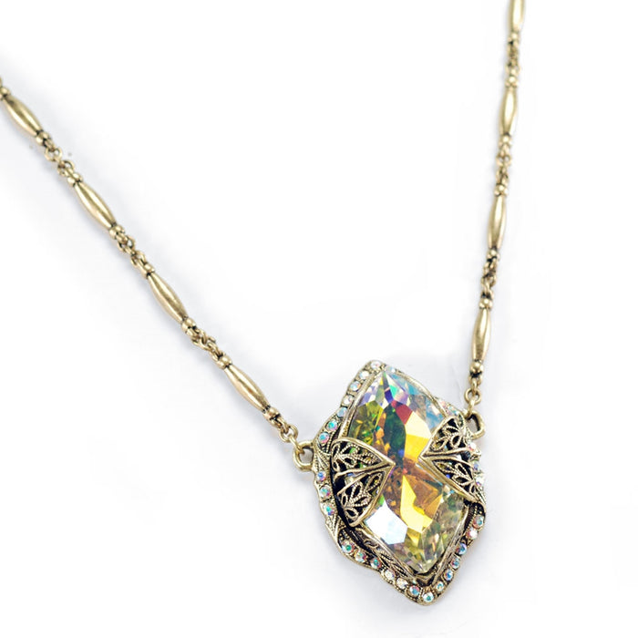 Marquis Aurora Borealis Jewel Crystal Necklace N514-AB