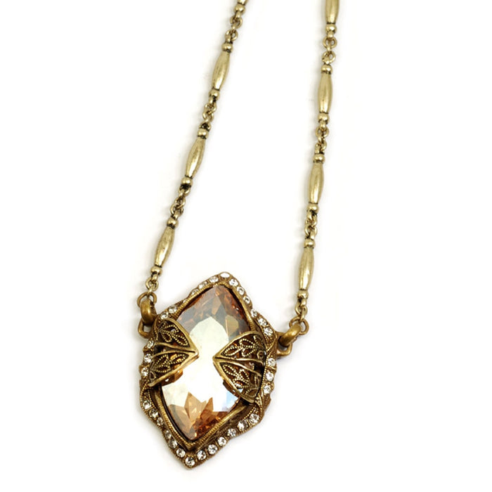Marquis Gold Shadow Jewel Crystal Necklace N514-GS