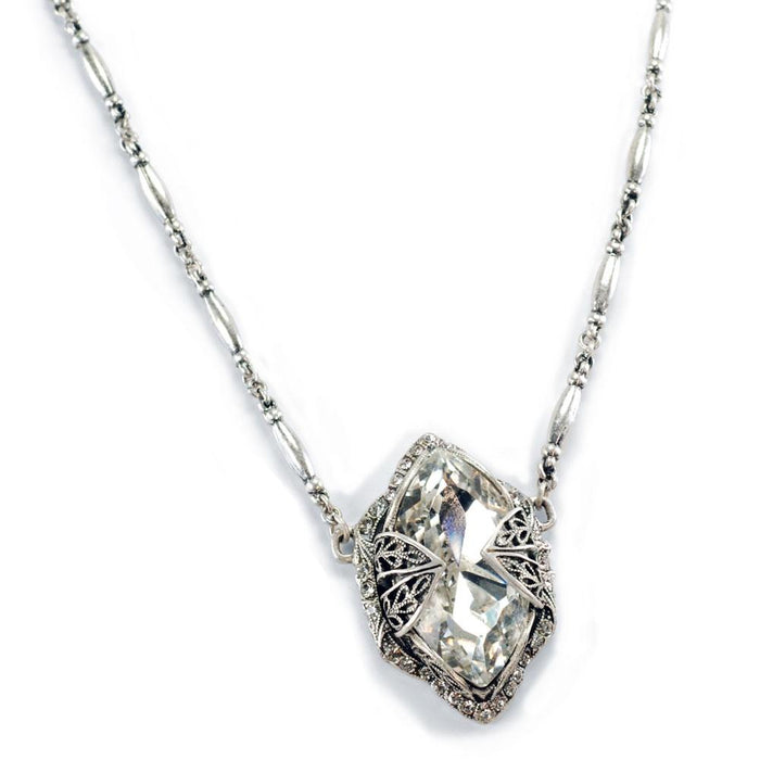 Marquis Silver Shade Jewel Crystal Necklace N514-SS