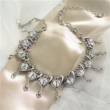 Grand Crystal Wedding Necklace - sweetromanceonlinejewelry