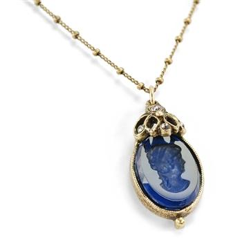 Artemis Intaglio Pendant Necklace N571 - sweetromanceonlinejewelry