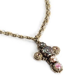 Ornate Cross Necklace N662 - sweetromanceonlinejewelry