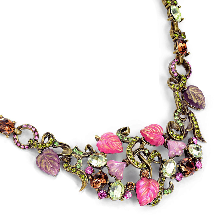 1940s Leaves of Glass Necklace N671