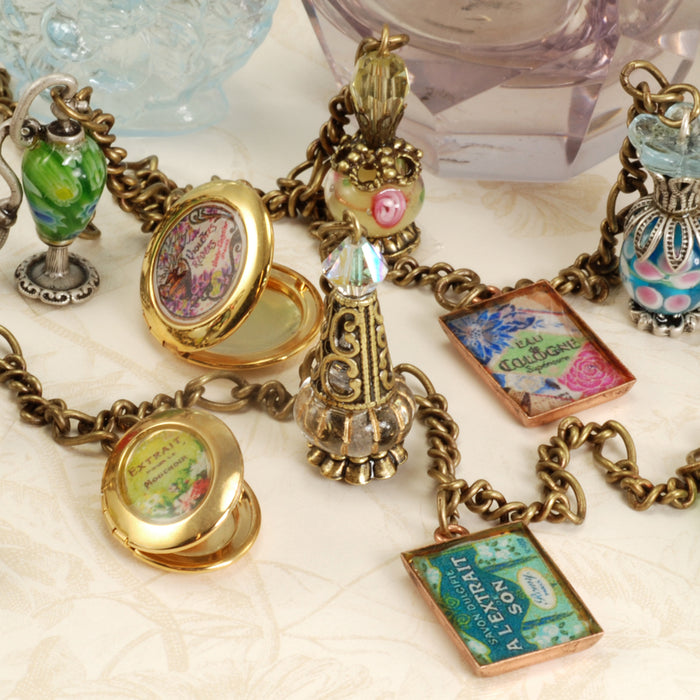 Perfume Charm Necklace N691