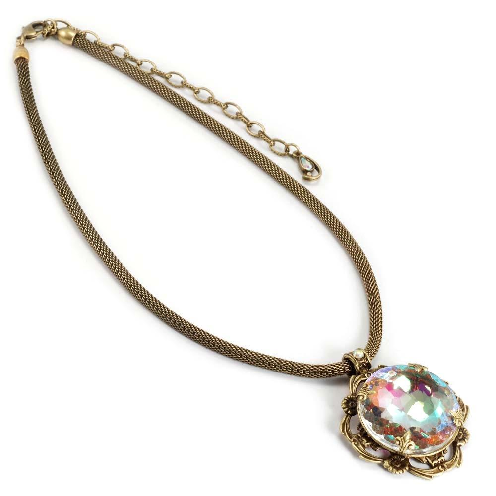 Rainbow Jewel Necklace N707 - sweetromanceonlinejewelry