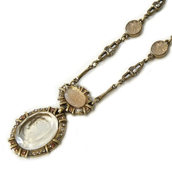 Crystal Intaglio Necklace - ONLY 10 LEFT!