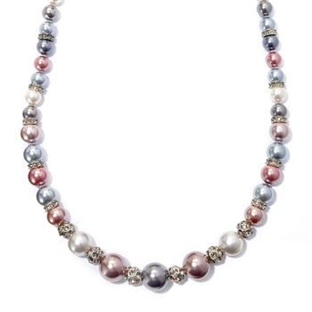Opera Length Ocean Pearls Necklace N969-SIL - sweetromanceonlinejewelry