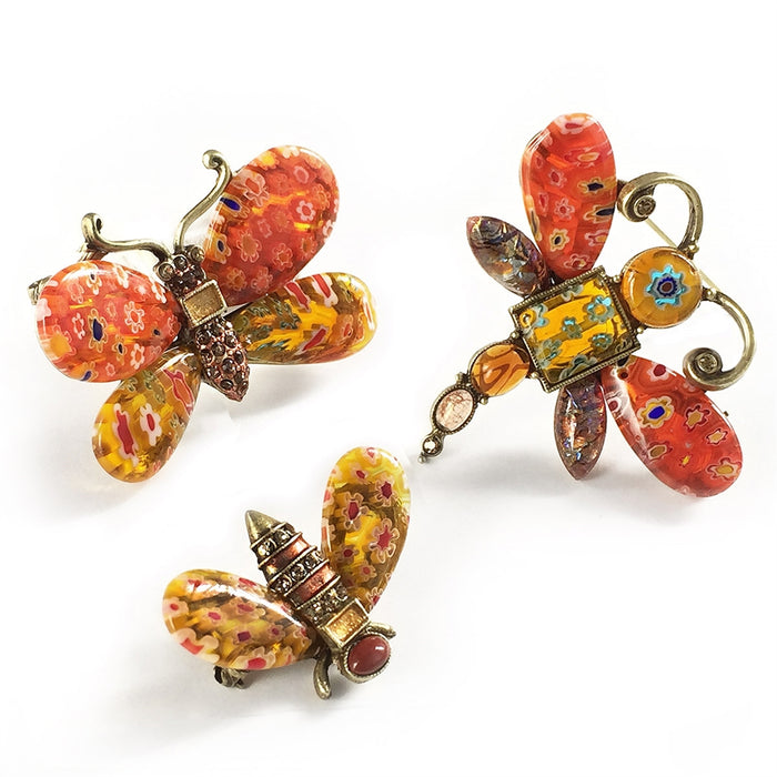 Candy Glass Insect Pins