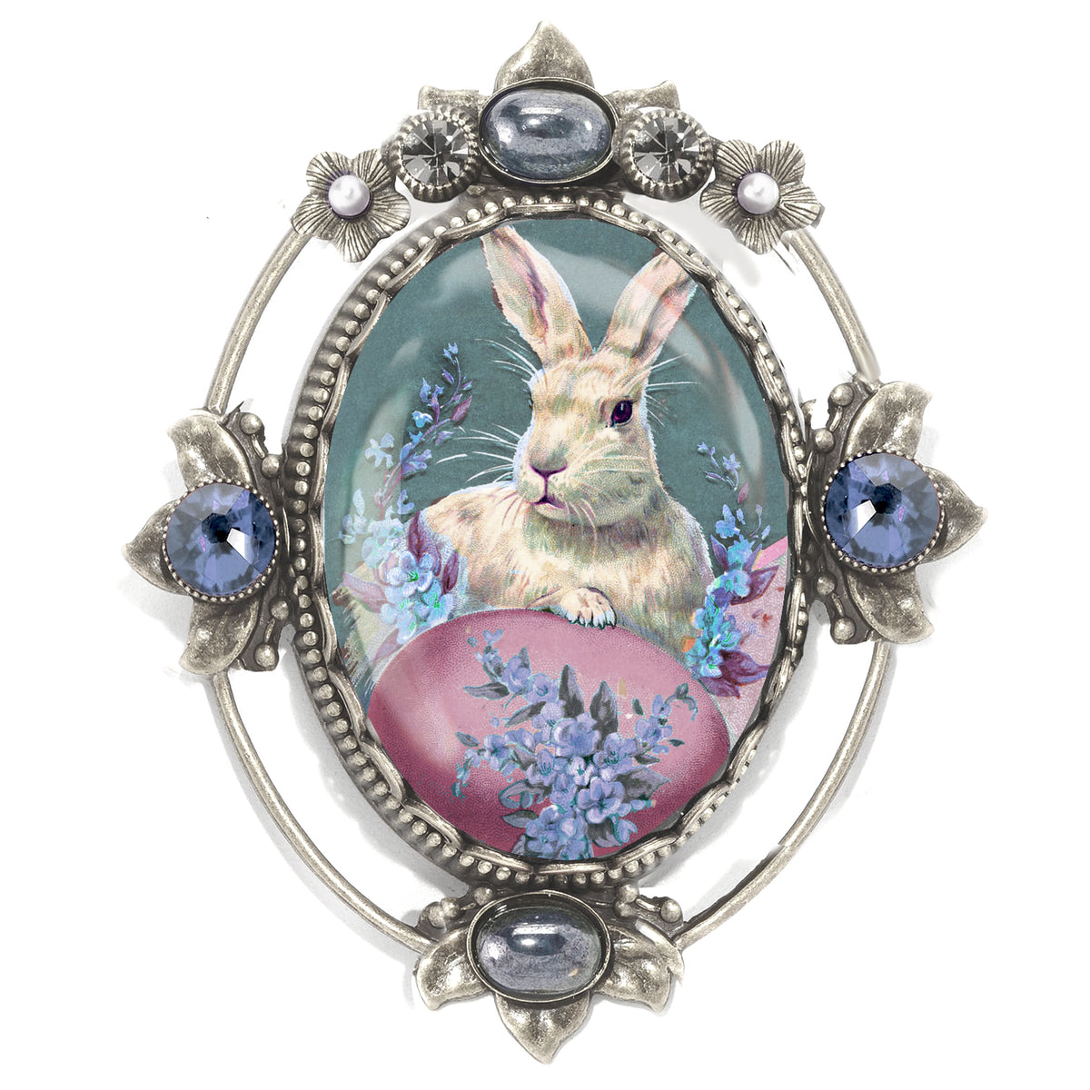 Tossie the Bunny with Egg Pin P330-TO