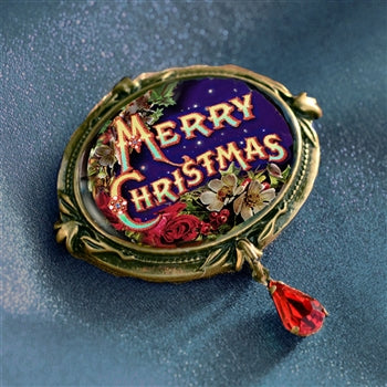 Merry Christmas Pin P340 - sweetromanceonlinejewelry