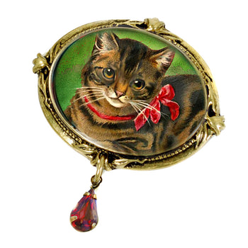 Christmas Cat Pin