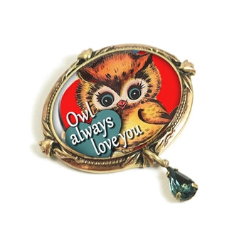 Owl Always Love You' Valentine Pin P343