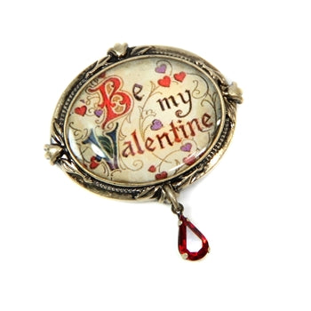 Be My Valentine' Valentine Pin P345