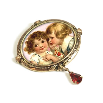 Sweet Nothings' Valentine Pin P346 - sweetromanceonlinejewelry