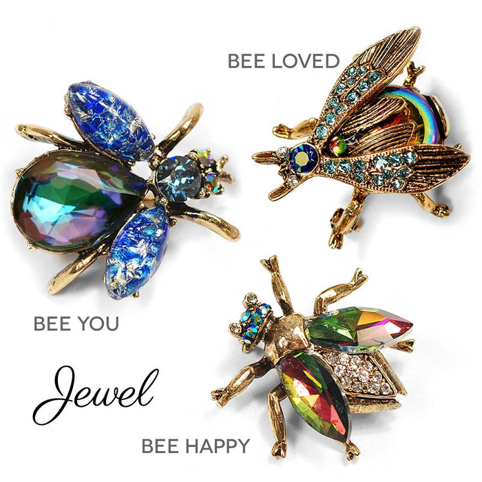 Vintage Exotic Bee Pins P5280 - sweetromanceonlinejewelry