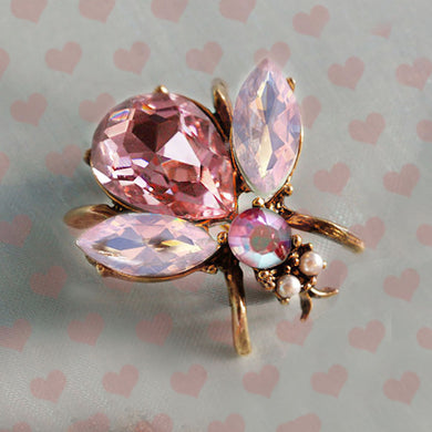 Think Pink Breast Cancer Awareness Pink Bee Pin