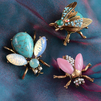 Vintage Exotic Bee Pins P5280