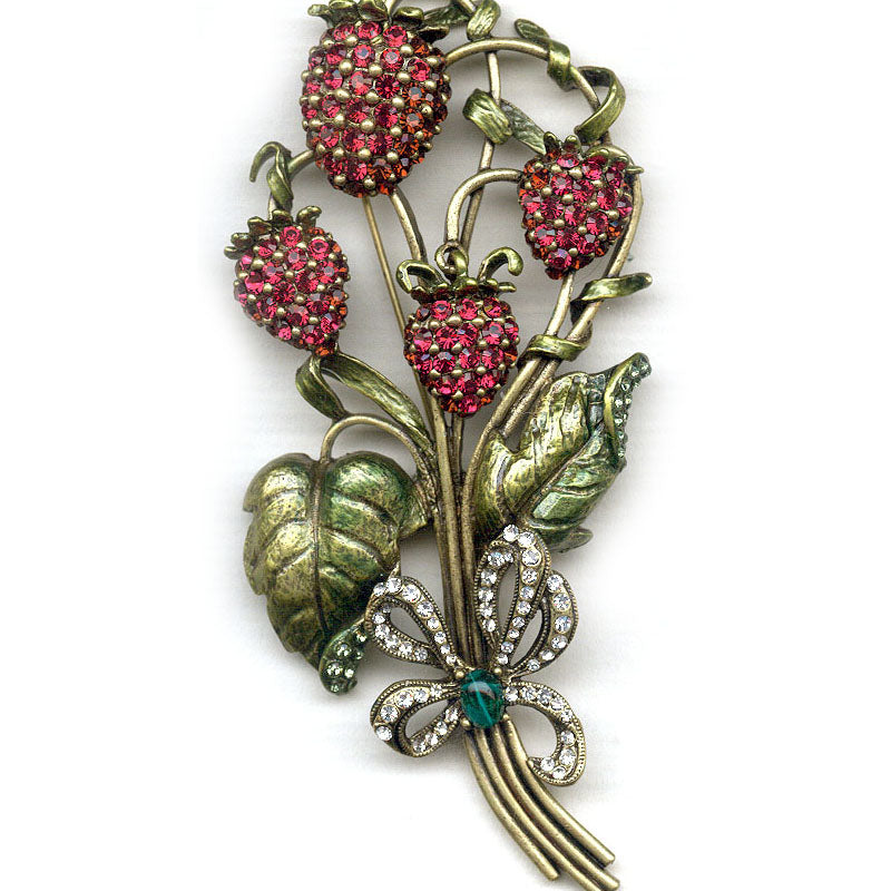 Sweet Strawberries Statement Brooch Pin P539