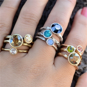 Circle Stacking Rings Set R1105 - sweetromanceonlinejewelry