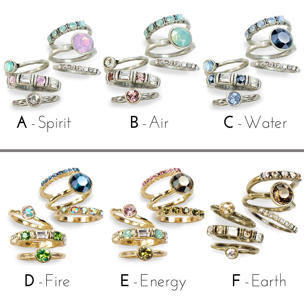 Set of 6 Stacking Rings R1120 - sweetromanceonlinejewelry