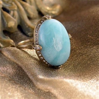 Amazonite Gemstone Ring R131 - sweetromanceonlinejewelry