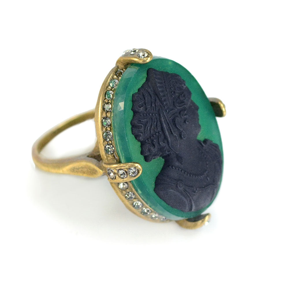 Vintage Cameo Ring R133 - sweetromanceonlinejewelry