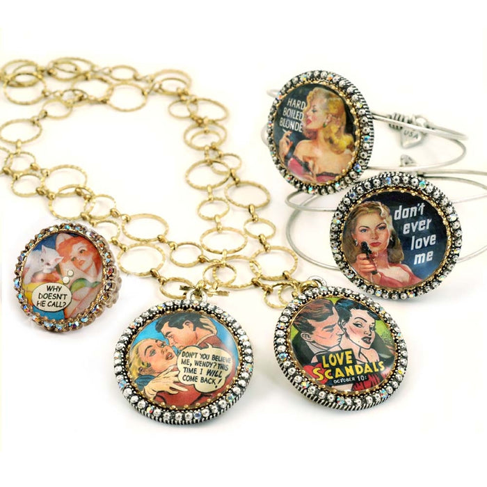Vintage Vixens Comic Rings