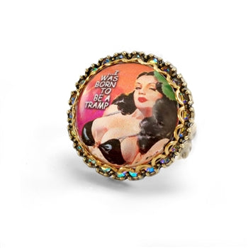 Born to be a Tramp: Vintage Vixens Ring R3022 - sweetromanceonlinejewelry