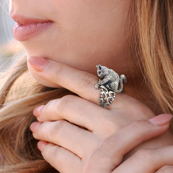 Cat Sculpture Ring R528