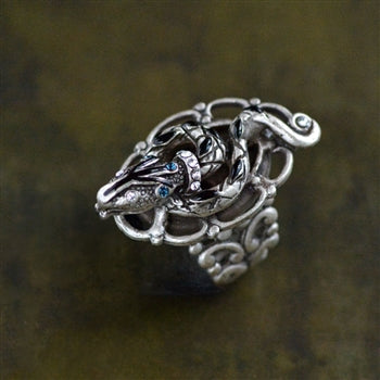 Egyptian Serpent Snake Ring R530 - sweetromanceonlinejewelry
