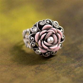 Make Mine Pink Rose Ring R531 - sweetromanceonlinejewelry