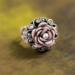Make Mine Pink Rose Ring
