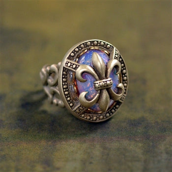 Fleur de Lis New Orleans Ring R532 - sweetromanceonlinejewelry