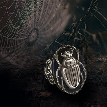 Scarab Beetle Ring R535 - sweetromanceonlinejewelry