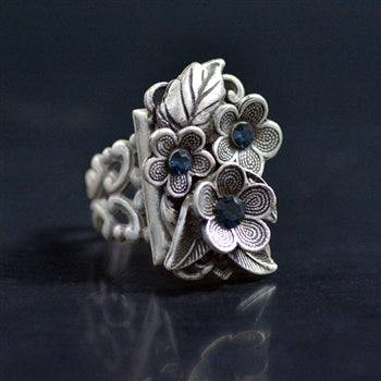 Forget Me Not Flower Ring R540 - sweetromanceonlinejewelry