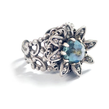 Silver Wild Flower Daisy Ring
