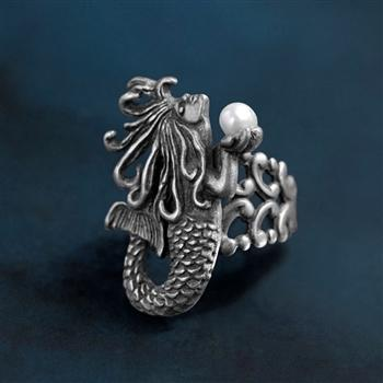 Mermaid Art Nouveau Ring R554 - sweetromanceonlinejewelry