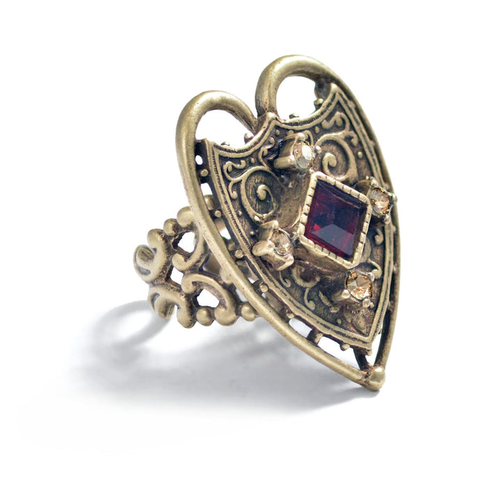 Renaissance Heart Ring