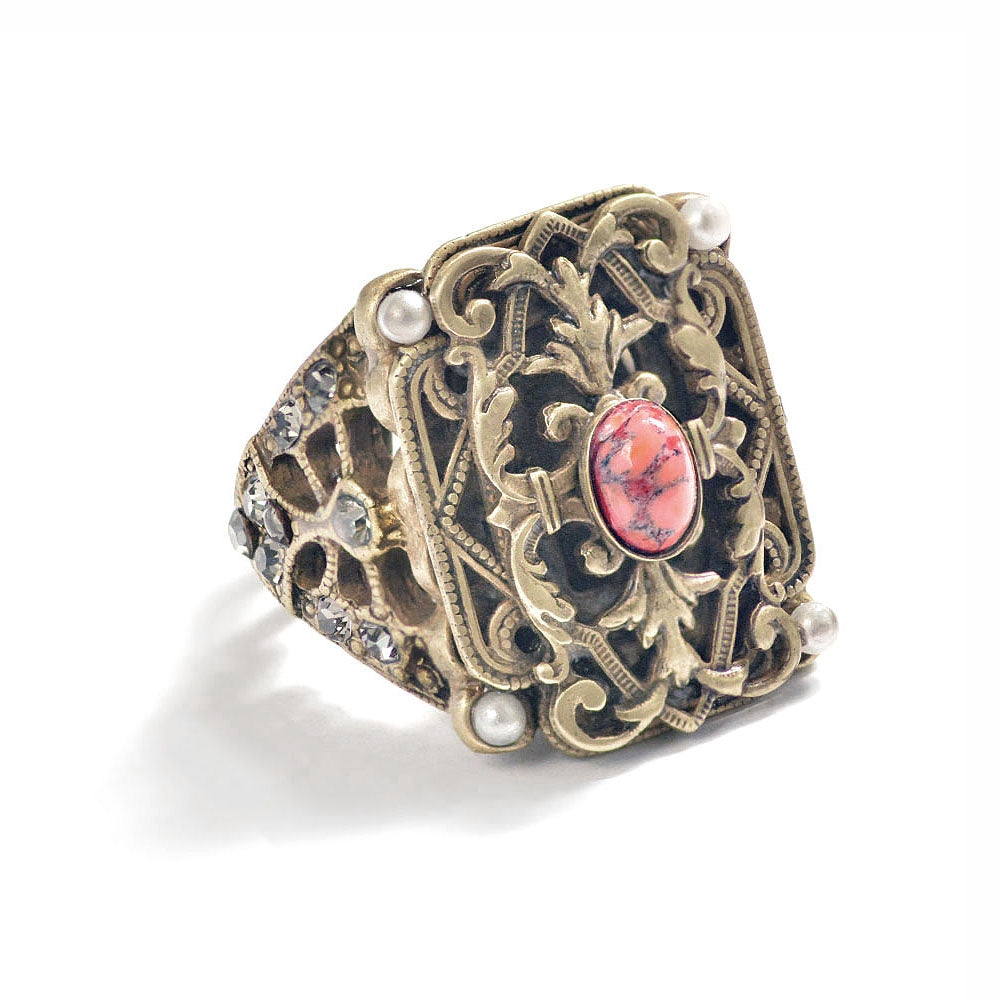 French Baroque Revival Ring R557 - sweetromanceonlinejewelry