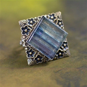 Square Glass Tile Ring