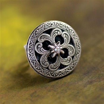 Celtic Sun and Star Ring R560 - sweetromanceonlinejewelry