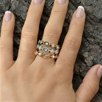 Set of 3 Vintage Stacking Rings R600 SET - sweetromanceonlinejewelry