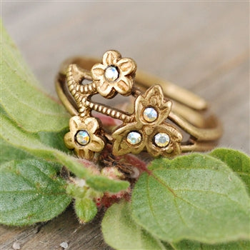 Victorian Flower Toe Ring