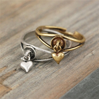 Puffy Heart Toe Ring TR106 - sweetromanceonlinejewelry