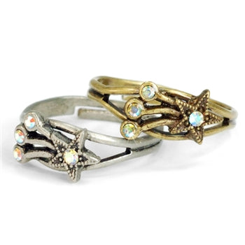 Shooting Star Toe Ring and Finger Ring TR107 - sweetromanceonlinejewelry