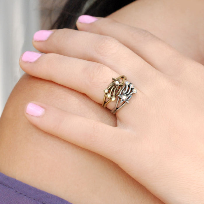 Shooting Star Toe Ring and Finger Ring