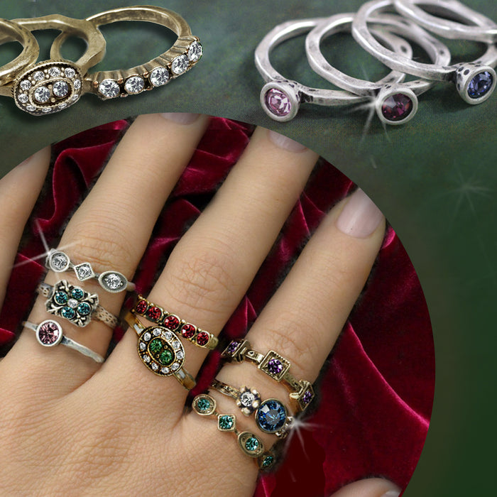 Birthstone Stackable Vintage Ring