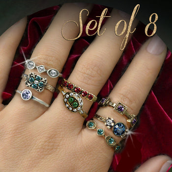 Set of 8 Vintage Rings