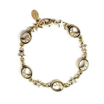 Crescent Moon Bracelet BR544 - sweetromanceonlinejewelry