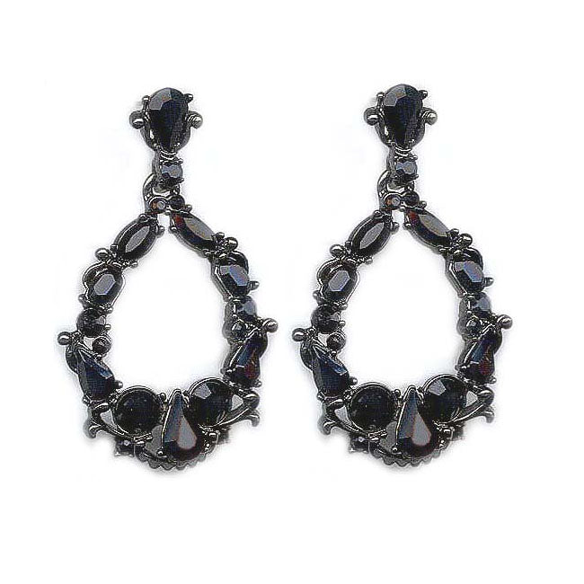 Crystal Encrusted Statement Earrings E770 - sweetromanceonlinejewelry